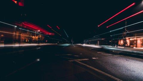 Город, дорога, освещение