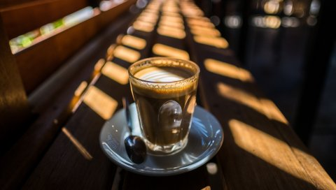Стекло, кофе, свет, кафе