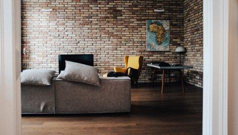 Комната, стол, карта, мебель, дизайн