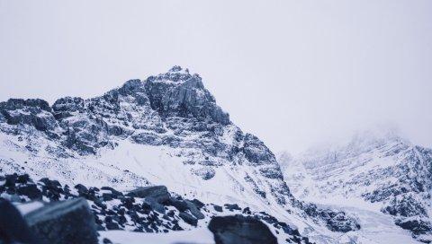 Ледник атбаска, канадский, гора