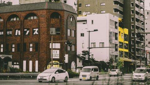 Город, улица, автомобили, движение