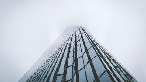 Небоскреб, здание, туман