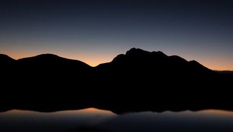 Горы, холм, темнота