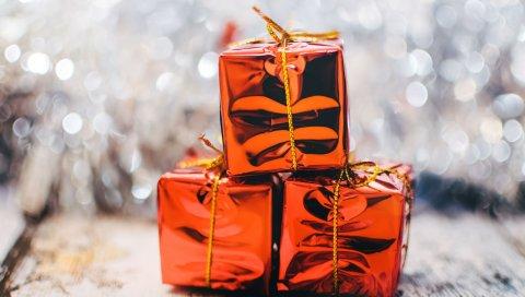 Коробки, подарки, рождество