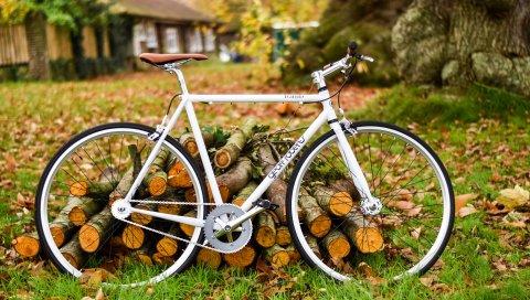 Велосипед, осень, листва