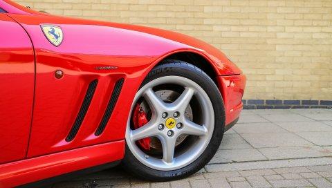 Ferrari, колесо, шина, вид сбоку
