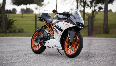 Ktm, мотоцикл, вид сбоку