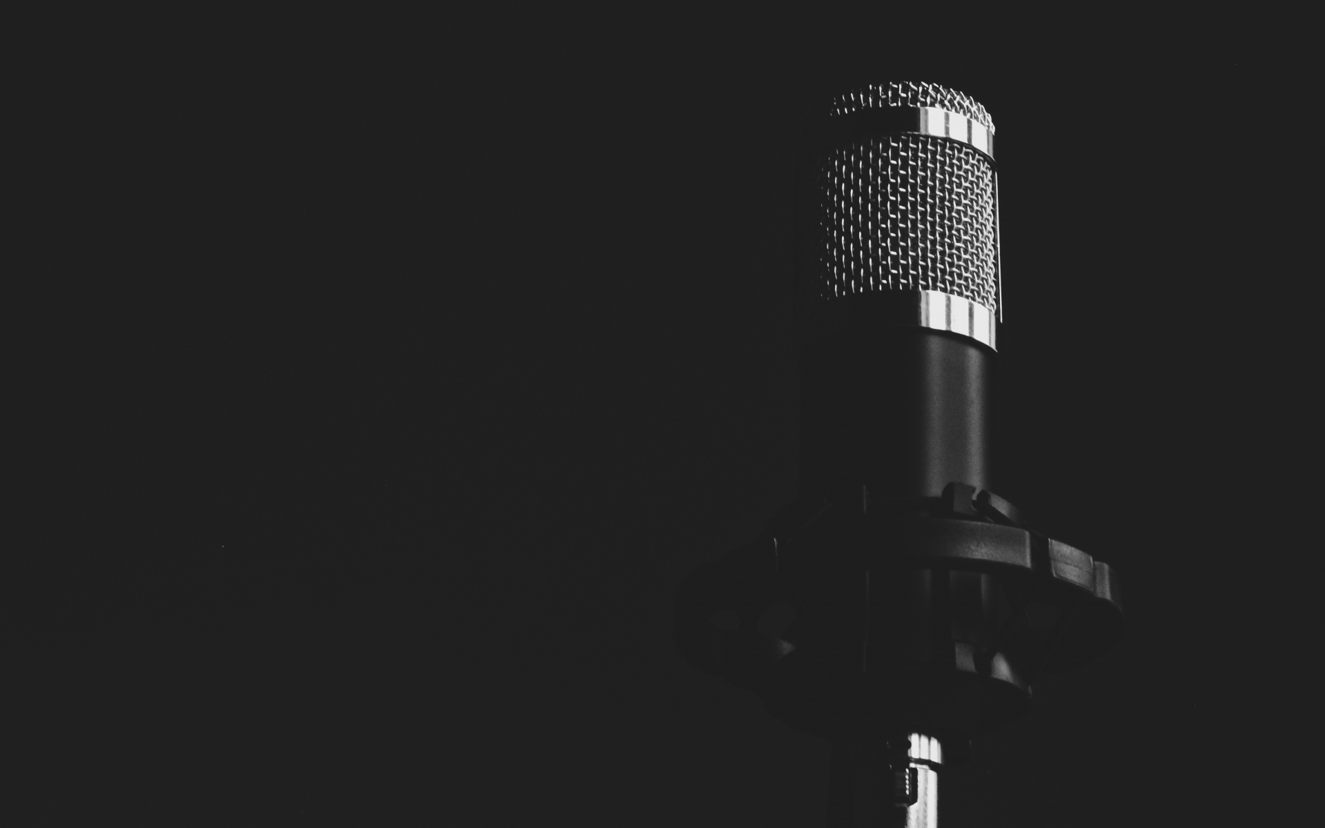 Картинки Микрофон, музыка, bw фото и обои на рабочий стол