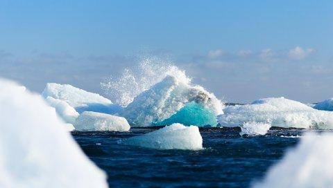 Айсберг, лед, снег