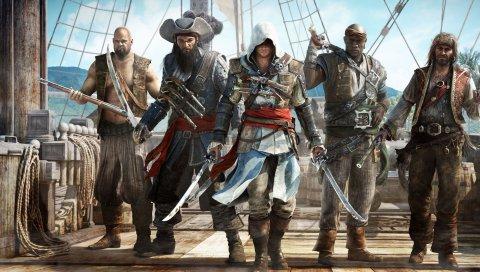 Ассасины, черный флаг, пираты