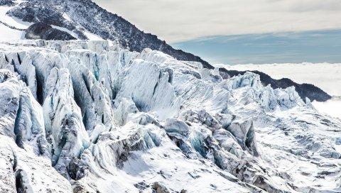 Горы, снег, камни, вершины
