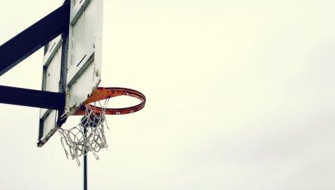 Баскетбольная доска, баскетбольная сетка, старая