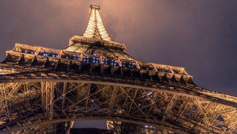 Эйфелева башня, париж, вид снизу
