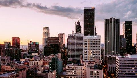 Лос-Анджелес, небоскребы, здания