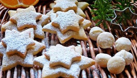 Печенье, орехи, макадамия