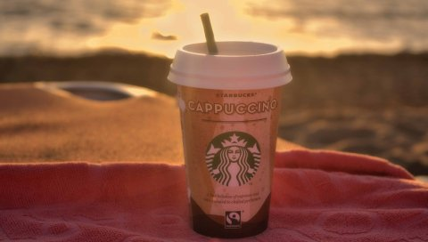 Starbucks, кофе, капучино, стекло