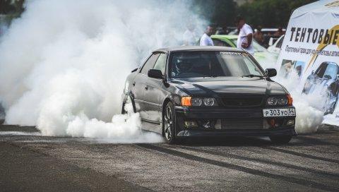 Toyota, chaser, дрейф, вид сбоку