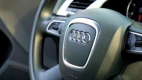 Audi, автомобиль, рулевое колесо, управление