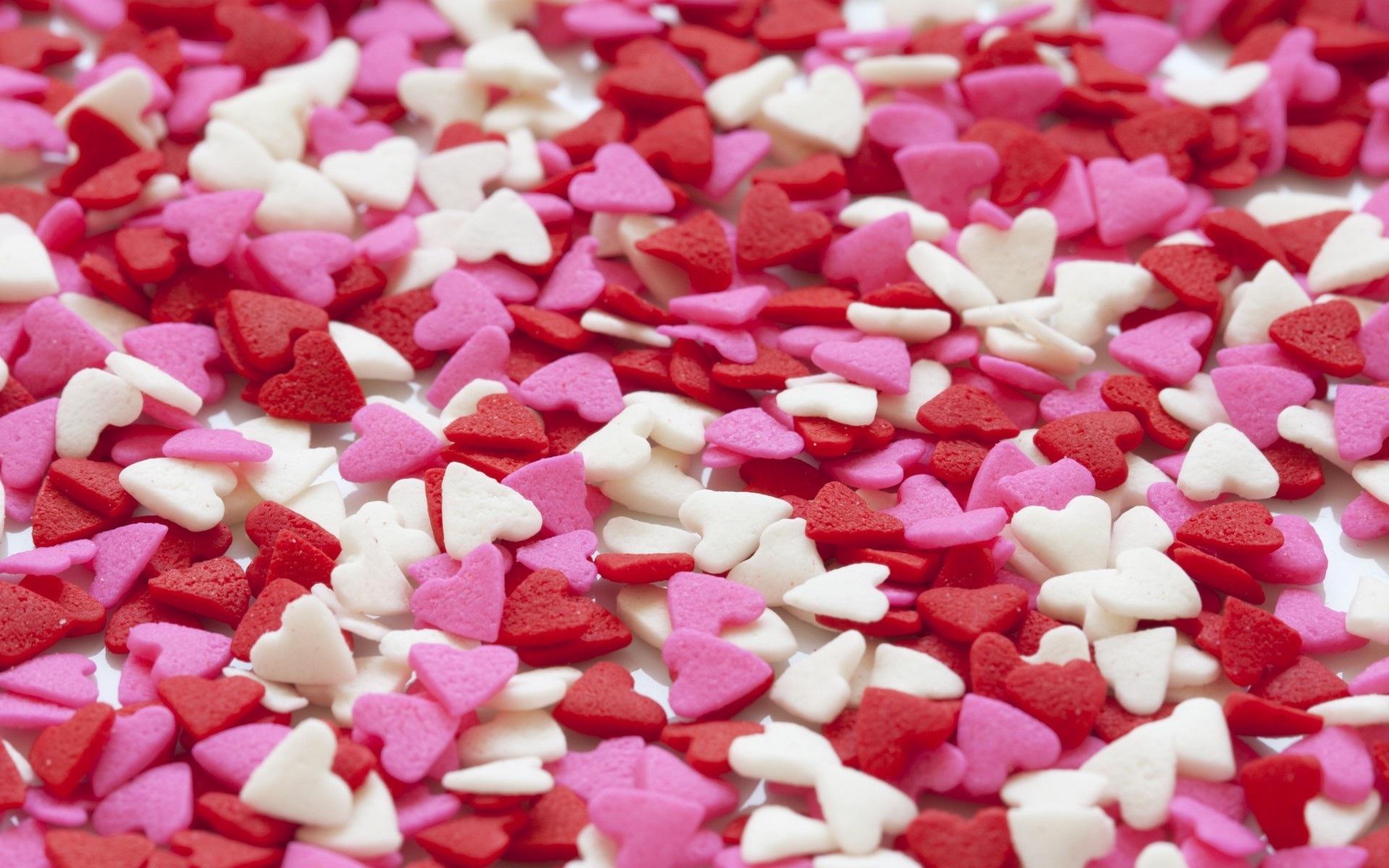 Картинки Сердце, набор, красный, белый, розовый фото и обои на рабочий стол