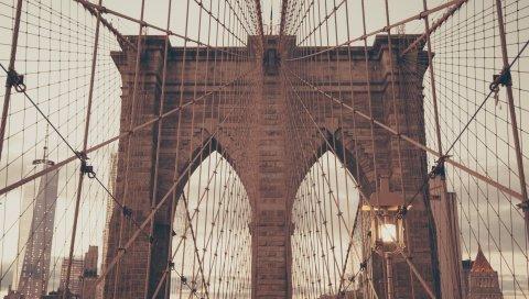 Бруклин, Нью-Йорк, мост, архитектура