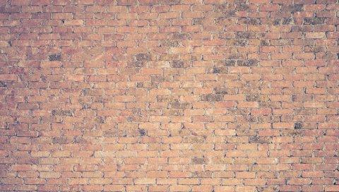 Кирпичная стена, текстура, поверхность