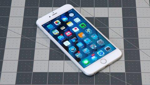 Iphone 6s plus, яблоко, смартфон
