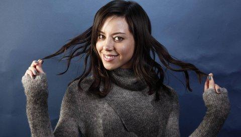 Aubrey plaza, актриса, улыбка, фотосессия