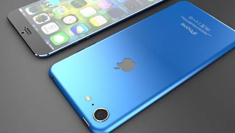 Iphone 7, яблоко, концепция, смартфон