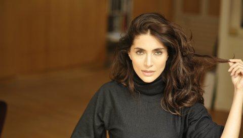 Caterina murino, актриса, брюнетка, куртка, волосы
