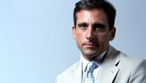 Steve carell, актер, куртка, взгляд, галстук