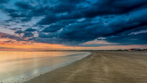 Море, пляж, пляж, небо, облака