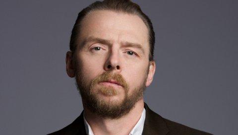 Simon pegg, актер, куртка, борода