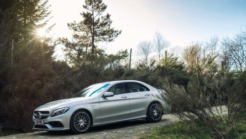 Mercedes, amg, c 63 с, вид сбоку
