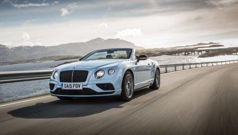 Bentley, continental, gt, v8, кабриолет, вид сбоку