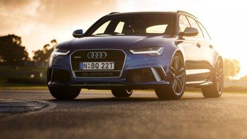 Audi, rs6, avant, au-spec, автомобили, синий