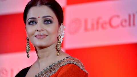 Aishwarya rai, актриса, улыбка, макияж, индийский