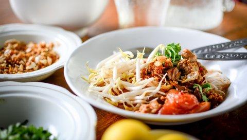 Ужин, мясо, овощи