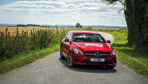 Mercedes-benz, cla-class, x117, красный