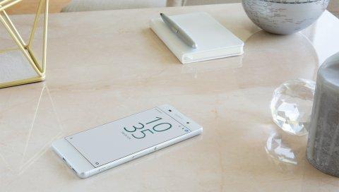 Sony, xperia, смартфон, стол, сенсорный экран