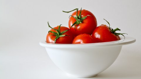 Помидоры, томаты, лотки, овощи