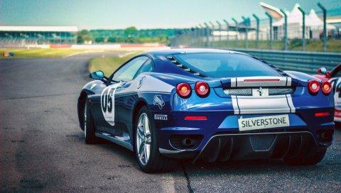 Ferrari, pirelli, автомобили, вид сзади