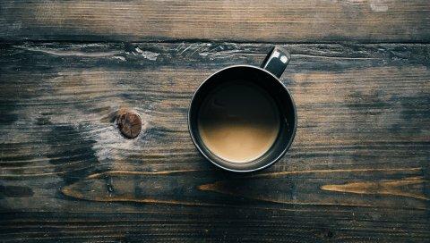 кофе , чашка, деревянная поверхность