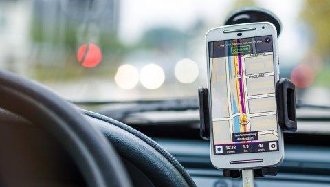 навигация, автомобиль, смартфон