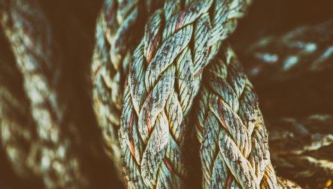 Веревка, поверхность, сетка, форма