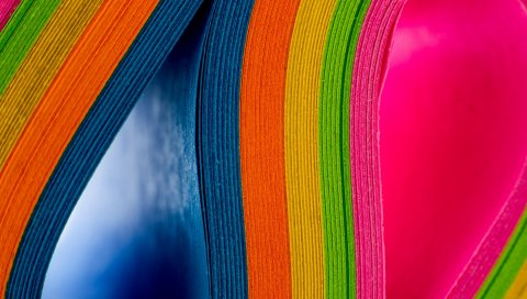Бумага, радуга, разноцветная, текстура