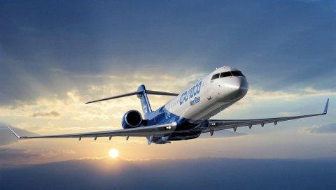 Самолет, бомбардир, crj 700, серия