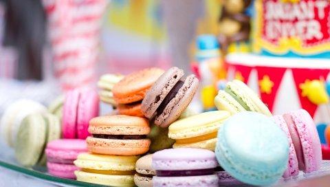 Макарон, десерт, выпечка, печенье