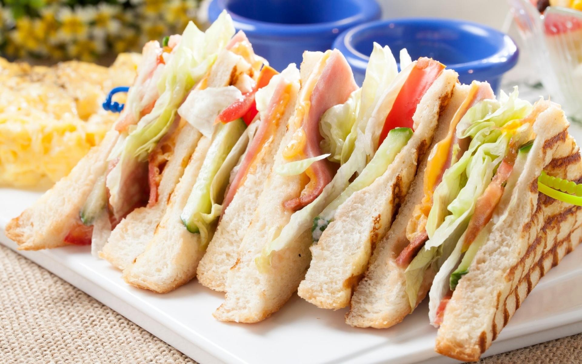 Картинки Сэндвич, хлеб, мясо, овощи фото и обои на рабочий стол