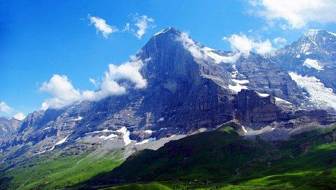 Альпы, Швейцария, горы, небо