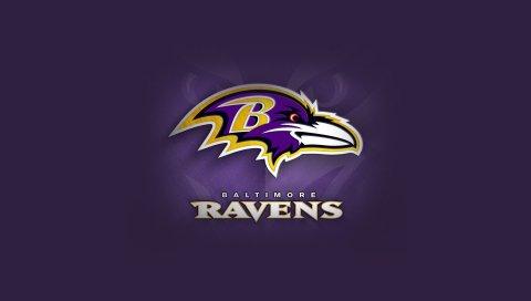 Балтимор вороны, американский футбол, логотип